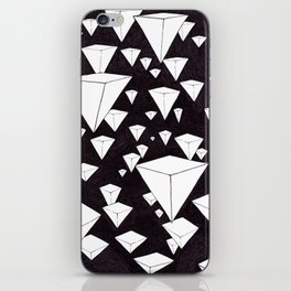 snowing pyramids II iPhone Skin