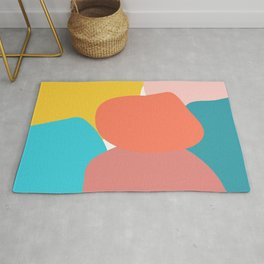 Abstract pastel collors Rug
