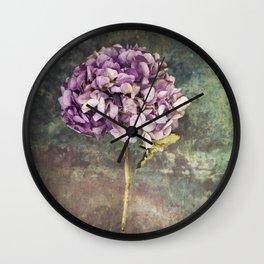 Beautiful Hydrangea Wall Clock
