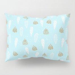 Merry Christmas-Festive teal pine cone X-Mas Pattern Pillow Sham