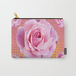 PINK GARDEN ROSES OPTICAL PATTERN ART Carry-All Pouch