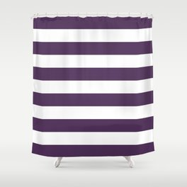 Plum Stripes Shower Curtain