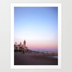 Goodnight from Sitges Art Print