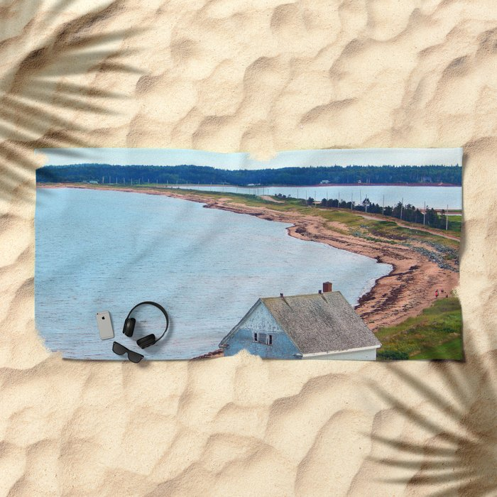 Beach and Causeway, seen from Above Beach Towel