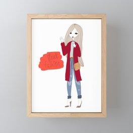 Street style girl Framed Mini Art Print