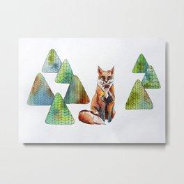 Like a Fox Metal Print