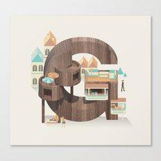 Resort Type - Letter G Canvas Print