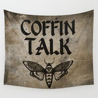 moth Wall Tapestries featuring Moth by Nick Papageorgio
