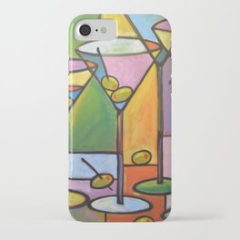 Abstract Art Wine Bar Alcohol Painting ... Martinis and Olives iPhone Case