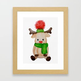 Winter Reindeer Framed Art Print