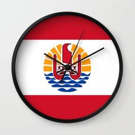 French Polynesia Flag Wall Clock