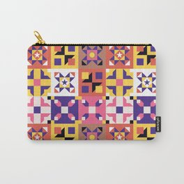 Maroccan tiles pattern with pink and purple no3 Carry-All Pouch