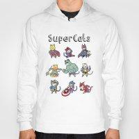 superheros Hoodies featuring SuperCats by trheewood