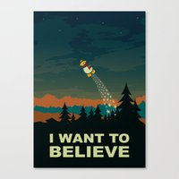 i want to believe Canvas Prints featuring I want to believe by mangulica