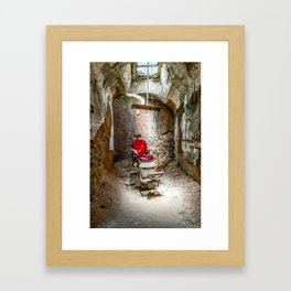 At the Barbershop Framed Art Print