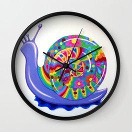 Snail Trail Wall Clock