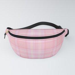 Pink Blush Plaid Pattern Fanny Pack