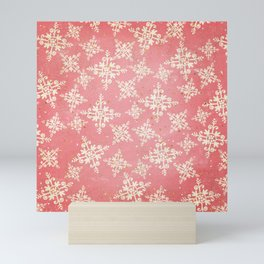 Red and Gold Snowflakes 1 Mini Art Print