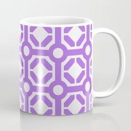 Purple geometric hexagon pattern Coffee Mug