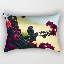 House Sparrow in the Evening Light Rectangular Pillow
