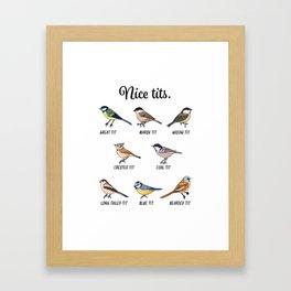 Funny Cute Nice Tits Bird watching Gift Framed Art Print