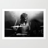 Livid and the Bloodthirsty (drummer) Art Print