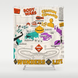 Wonders of Life Placemat Shower Curtain