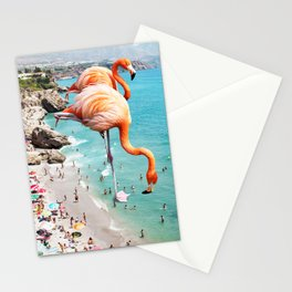 Flamingos on the Beach #society6 #decor #buyart Stationery Cards