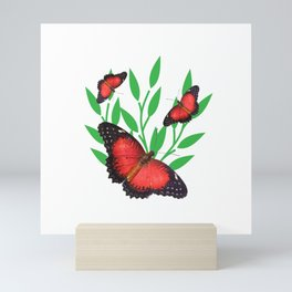 Red Lacewing Butterflies Mini Art Print