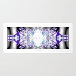 Kaleidoscope Icicle Abstract Art Art Print