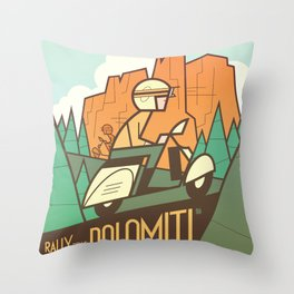 Dolomiti Rally Throw Pillow