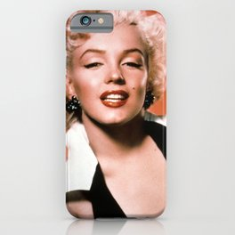 brown Marilyn Monroes iPhone Case