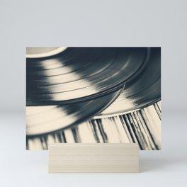 Collection of Vintage 33 RPM LP Record Albums Mini Art Print