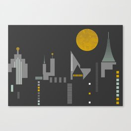 City scape horizontal print Canvas Print