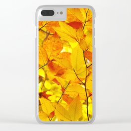 Indian Summer - Yellow Autumn Fall Leaves Clear iPhone Case