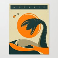 arrakis Canvas Prints featuring ARRAKIS by Jazzberry Blue