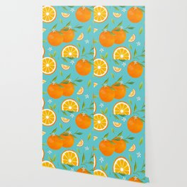 Teal Clementine Wallpaper