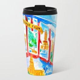 Greetings From Austin Mural watercolor Travel Mug