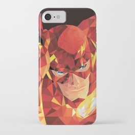 Low Polygon Flash iPhone Case
