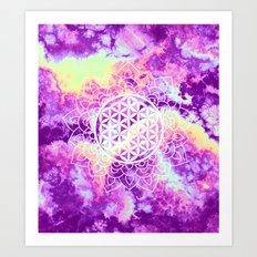 Flower Of Life (Batik 4) Art Print