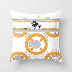 Minimal BB8 Droid Throw Pillow