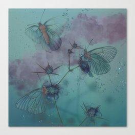 Evening Butterflies - Digital Artwork Canvas Print