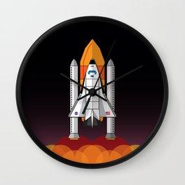 Space Shuttle night launch Wall Clock