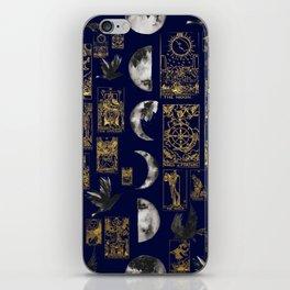 beautiful pagan themed tarot print iPhone Skin