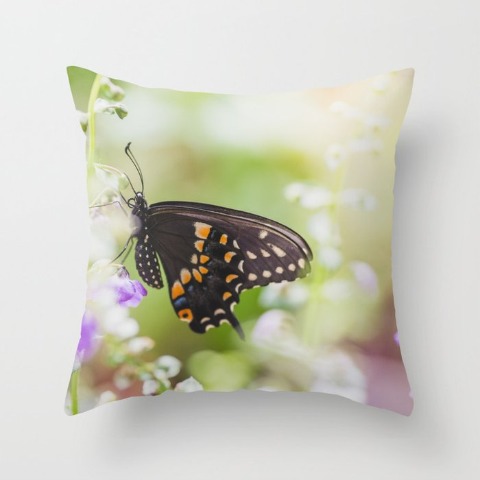 Butterfly Moments Throw Pillow