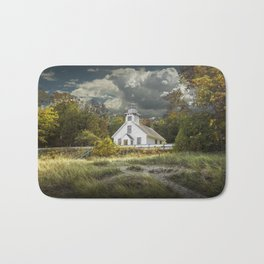 Old Mission Point Lighthouse in Early Autumn Bath Mat
