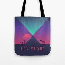 Las Vegas City Skyline Retro Art Deco - Pyramid Tote Bag