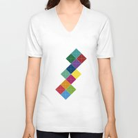 diamonds V-neck T-shirts featuring Diamonds by Losal Jsk