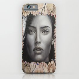 (The world) At their Feet. Bianca Balti. iPhone Case