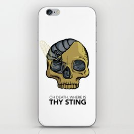 #1 Oh Death, Where Is Thy Sting iPhone Skin